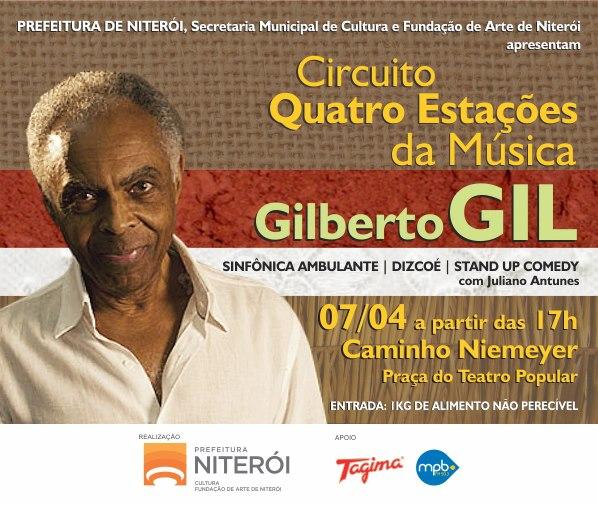 Gilberto Gil de Graça no Caminho Niemeyer em Niterói!