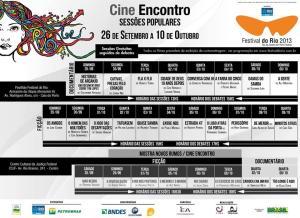 Programação Cine Encontro 2013